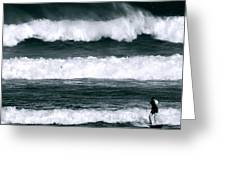 Woman Surfer Greeting Card
