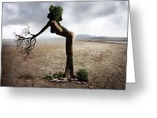 Woman Tree Art Greeting Card