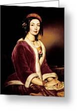 Woman Wearing A Velvet Pelisse  Greeting Card