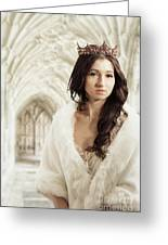 Woman Wearing Crown Greeting Card