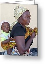 Woman With A Baby In Tanzania Greeting Card