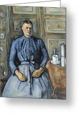 Woman With A Coffeepot  Greeting Card