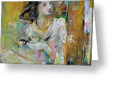 Woman With A Cup Of Coffee Greeting Card