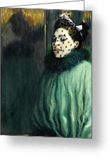 Woman With A Veil Greeting Card