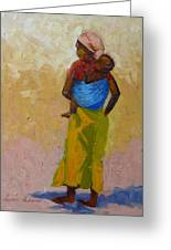 Woman With Baby Greeting Card