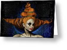 Woman With Big Hair Greeting Card