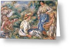 Women In A Landscape Greeting Card