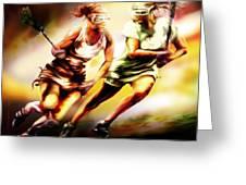 Women In Sports - Lacrosse Greeting Card