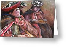 Women Of The Andes Greeting Card