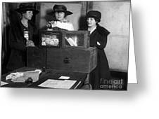 Women Voting, C1917 Greeting Card