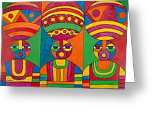 Women With Calabashes Greeting Card