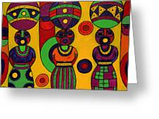 Women With Calabashes II Greeting Card