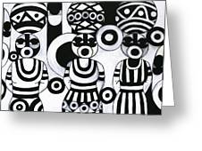 Women With Calabashes IIi Greeting Card