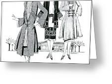 Womens Fashion, 1926 Greeting Card