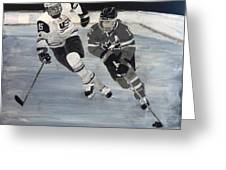 Women's Hockey Greeting Card by Richard Le Page