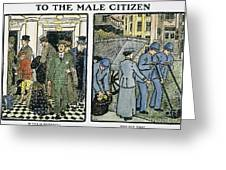 Womens Rights, C1910 Greeting Card