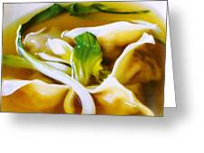 Won Ton Greeting Card