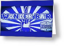 Wonder Bar - Sign Greeting Card