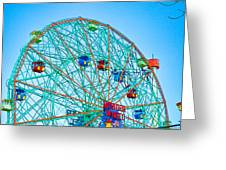 Wonder Wheel Amusement Park 1 Greeting Card