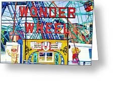 Wonder Wheel Amusement Park 10 Greeting Card
