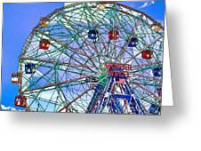 Wonder Wheel Amusement Park 3 Greeting Card