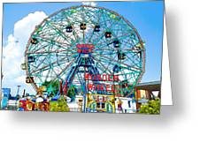 Wonder Wheel Amusement Park 6 Greeting Card
