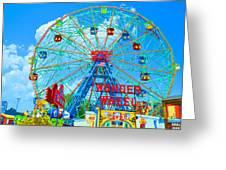 Wonder Wheel Amusement Park 7 Greeting Card