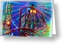 Wonder Wheel At The Coney Island Amusement Park Greeting Card