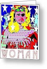 Wonder Woman Greeting Card by Ricky Sencion