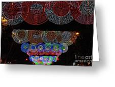 Wonderful And Spectacular Christmas Lighting Decoration In Madrid, Spain Greeting Card