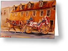 Wonderful Carriage Ride Greeting Card