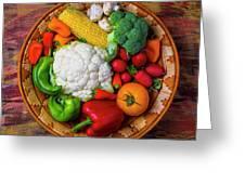 Wonderful Fresh Vegetables Greeting Card