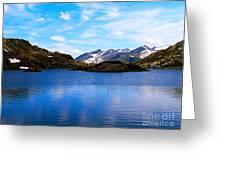 Wonderful Lake San Bernardino In Switzerland. Greeting Card