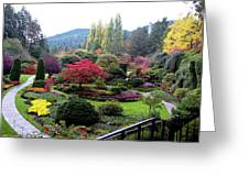 Wonderful Sunken Garden In The Butchart Gardens,victoria,canada 1. Greeting Card