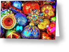 Wonderfully Beautiful Christmas Ornaments Greeting Card