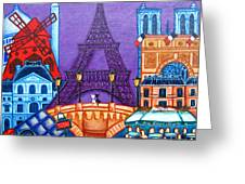 Wonders Of Paris Greeting Card