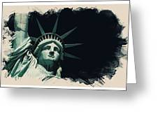 Wonders Of The Worlds - Lady Liberty Of New York 2 Greeting Card
