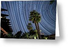 Wonky Star Trails Greeting Card