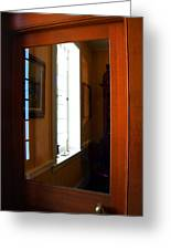 Wood And Glass Door Greeting Card
