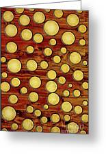 Wood And Gold Greeting Card