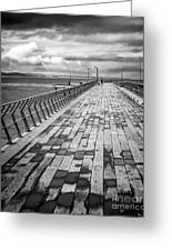 Wood And Pier Greeting Card