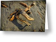 Wood And Sand Greeting Card