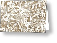 Wood And White Floral- Art By Linda Woods Greeting Card