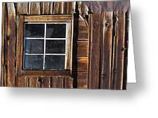 Wood And Window Greeting Card