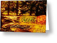 Wood At Night Greeting Card by Marie Bulger