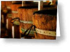 Wood Barrels Greeting Card
