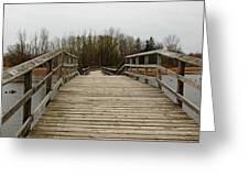 Wood Boardwalk At Valens Greeting Card