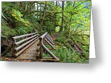 Wood Bridge Over Butte Creek Greeting Card
