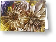 Wood Carved Dahlia Greeting Card