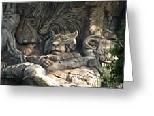 Wood Carving Greeting Card